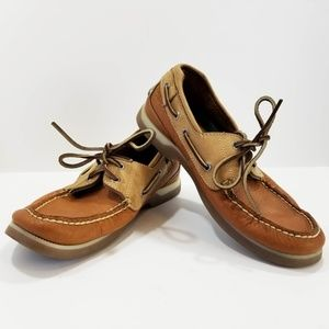 Sperry Top Sider Women Size 8 M Leather Slip on